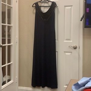 Calvin Klein Dresses - Calvin Klein Navy Cowl Neck Formal Gown